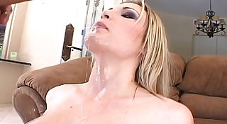 Skinny MILF Anal Sex On Couch