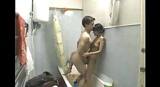 Young Teen Amateur Couple Awesome Bathroom Fuck