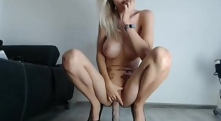 amazing florane ride on dildo in webcam show